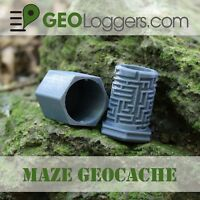 *NEW* Unique Maze Geocache Cache Container +3 Free Cache Log Sheets!