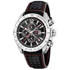 Festina F20440-4 Men's Black Strap Chronograph Wristwatch