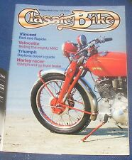 CLASSIC BIKE OCTOBER 1984 - VINCENT/VELOCETTE/TRIUMPH