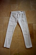 RALPH LAUREN BLACK LABEL White Cotton Slim Lowrise Jeans 30x32 Made Tunisia