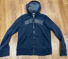 Mens Abercrombie & Fitch Muscle Fit Full Zip Hooded Sweatshirt - XL- Blue Hoody