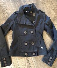 abercrombie  & Fitch Girls Kids Navy Jacket Lightweight Fall / Spring Boy Sz S