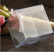 Clear Plastic PVC Box Reusable Gift Craft Wedding Party Favor Packing Boxes 5CM