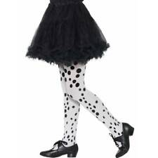 Girls Dalmation Spotted Tights Evil Madam Dress Up Fancy Dress Book Week