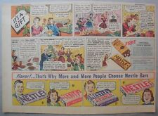 Nestle's Chocolate Bars Ad: It's A Gift ! 1930's-1940's 11 x 15 inches