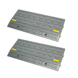 BISupply | Curb Ramps for Driveway Car Ramps Motorcycle Ramp Threshold Ramp 2pk