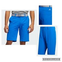 New Adidas Ultimate 365 Mens Solid Golf Shorts- Glow Blue- Pick Size- Closeout