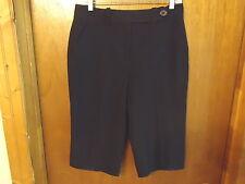 "Womens Larry Levine Stretch Size 8 Type Of Dress Black Capri Pants ""  BEAUTIFUL"