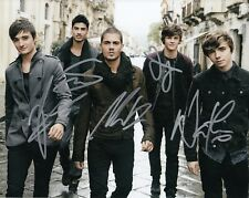 THE WANTED group signed MUSIC 8X10 photo W/COA *CHASING THE SUN* MAX GEORGE #3