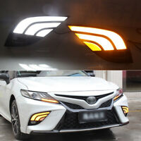 LED DRL Daytime Running Lights Fog light Driving Bumper Fit For Toyota Camry 18+
