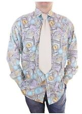"Versace Mens Vtg Collector Cotton Casual Fashion Print Shirt size L 42 16.5"" Z55"