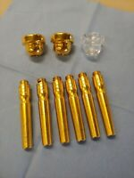 Pickett Brass Gold Plated and Acrylic Trumpet Mouthpiece Lot