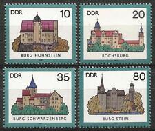 Germany (East) 1985 MNH - Architecture - Castles Hohnstein Rochsburg Stein