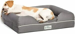 """PetFusion Ultimate Solid 2.5"""" Memory Foam Pet Bed for Small Dogs & Cats (25x20x5"""