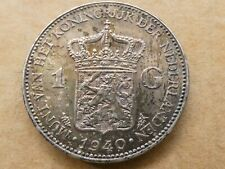 1 gulden, Wilhelmina, 1940, zilver, fraai