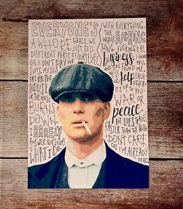 Tommy Shelby Actor  Peaky Blinders Series Print Framed Canvas Fabric 100x70