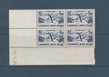 timbre France bloc de 4 coin daté championnats de ski Chamonix num: 334 **