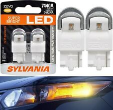 Sylvania ZEVO LED Light 7440 Amber Orange Two Bulbs Back Up Reverse OE Fit Lamp