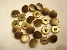 24 New Metal Gold Sewing Shank Buttons Size 30 Blouses Sweaters Jackets Crafts