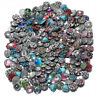 50pcs/lot Metal Rhinestone Charms Mixed Styles 18mm Snap Button For Snap Jewelry
