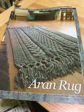 Vintage, 60s Inspired Cabled Aran Rug Knitting Pattern