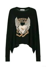 Spell & the Gypsy Collective Designs Dancing Outlaw Organic Sweater Charcoal XS