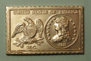1831 United States U.S. Capped Bust Quarter Dollar Numistamp Medal 1974 Reed