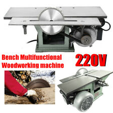 Woodworking Machine Bench Multifunctional Steel for Planing Drilling Sawing 220V