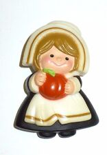 VINTAGE HALLMARK THANKSGIVING PILGRIM GIRL VGC