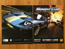 Midnight Club: Los Angeles Xbox 360 PS3 2008 Poster Ad Art Print Official Promo