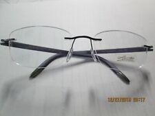 New SILHOUETTE Rimless Eyeglasses 4377 40 6060 5379 52-17 135 Blue & Green Frame