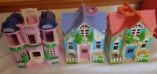 3 Fisher Price Mattel Sweet Street Houses ONLY No figures or pieces 2000 & 2004