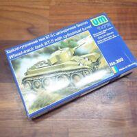 Soviet BT5 WHEEL TRACK TANK Cylindrical Turret 1:72 model kit UM Models 360 READ