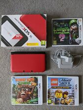 Nintendo 3ds XL with box, charger and 3 games