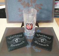 VOLBEAT DENMARK 2 SUPERSIZED SLATE COASTERS 15cmX15cm