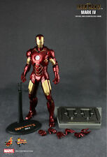 "Hot Toys Sideshow MMS 123 Iron Man 2 Ironman Mark IV 4 12"" 1/6th"