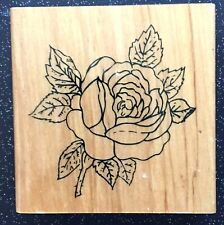 """Vintage Rubber Stamp """"Beautiful Rose Blossom"""" by Anitas 3 1/2 x 3 1/2"""""""