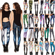 Women Yoga Gym Pants 3D Graphic Printed Leggings Jeggings Sport Stretch Trousers