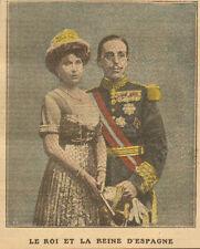 ESPAGNE ESPANA ROI & REINE REY ALFONSO XIII Y REINA IMAGE 1913