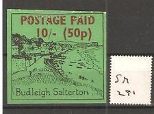 Cinderella -Sm291- Gb Strike Mail - Budleigh Salterton - 10/-d Value