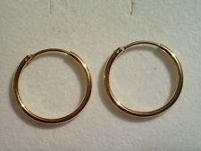 Scharniercreolen klein 11 x 1,3 mm Gold 333,Kindercreolen Gold 333,Creolen 11 mm