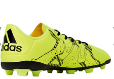 Junior Boys adidas X15.4 FxG J Football Boots Lime Green-Lace Fastening size 5