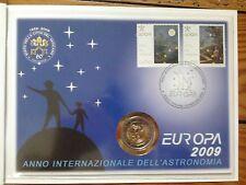 Europa vatican 2009, Pièces 2 euros + Timbre.