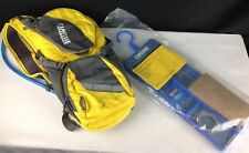 LOT CamelBak Rogue Hydration Water Pack Yellow/Grey, 2L Bladder & CLEANING KIT