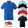 Fruit of the Loom MEN'S TIPPED POLO SHIRT STRIPES COLLAR SMART SPORTS GOLF OFFER
