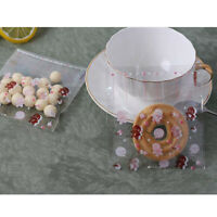 Snowman Snowflake Pattern Transparent Cookie Gift Packaging Snack Candy Bags