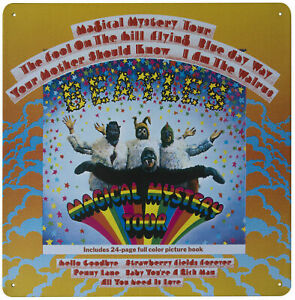 The Beatles MAGICAL MYSTERY TOUR Metal Wall Sign Retro Tin Steel Plaque Gift