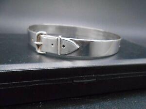 Bracelet ceinture type jonc en argent massif 800 d'orfèvre