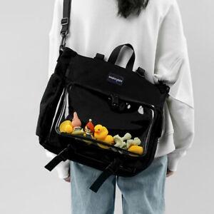 Lolita Transparent  Itabag Messenger Bag Kawaii  Backpack Student Bag Large Bag