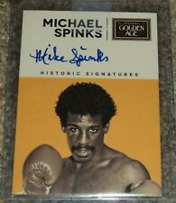 Michael Spinks 2014 Panini Historic Signatures Boxing card autograph
